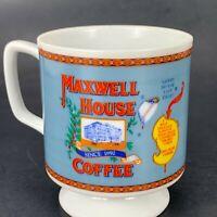 MAXWELL HOUSE COFFEE  VINTAGE 1970s  Footed Bone China Cup Mug