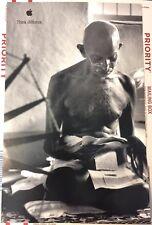 "Ghandi APPLE Poster THINK DIFFERENT 17""/11"" New/Unused Original 1998 Steve Jobs"