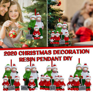 2020 Xmas Christmas Tree Hanging Ornaments Personalized Family Decoration AU