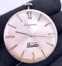 Lucerne Main Manuel Vintage 38,2 mm Pas Fonctionne pour Pièces