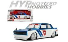 JADA 1:24 JDM TUNERS 1973 DATSUN 510 WIDEBODY DIE-CAST BLUE 99094