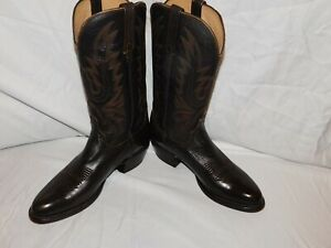 LUCCHESE HOMEMAKER BROWN LEATHER BOOTS SIZE 8D