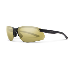 SMITH PARALLEL MAX 2 003A2 Sunglasses Matte Black Frame Gold Polarized Lens 71mm