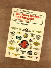 Air Force Badges and Insignia of World War 2 Rosignoli Arco Color Series Book