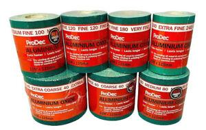 ProDec Ali Oxide 10 Metre Roll Aliminium Sandpaper Crack Resistant Course-V Fine