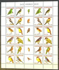 (Su 1717 - 1728) Suriname 2010 Birds (MNH) block