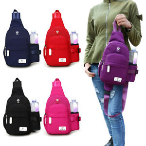 Men Women Nylon Crossbody Shoulder Chest Cycle Sling Bag Travel Backpack Daypack