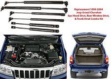6pc Hood Shocks, Trunk Shocks, Rear Window Shocks 1999-2004 Jeep Grand Cherokee