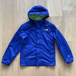 The North Face Boys DryVent Cobalt Blue Rain Jacket Size 10-12 Everyday