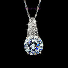 Elegant 18K White Gold Plated Love Gift Crystal Pendant Necklace NF16