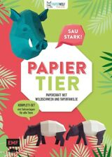 PAPIERtier – Saustark! Papercraft mit Wildschwein und Tapirfamilie: Komplett-Set