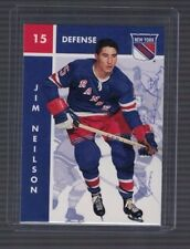 Jim Neilson New York Rangers 1995/96 Parkhurst Signed Card W/Coa