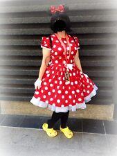 NEW Handmade Disney Minnie Dots Adult Dress Custom Sz S/M/L Halloween/Stage Play