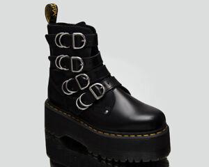 Dr. Martens Jadon Max Hardware Black Buttero Women's Lifestyle Leather Shoes