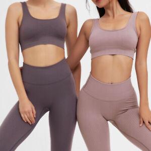 Women's 2Pcs Set Vest Leggings Suit Fashion Sexy Sports Fitness Gym Yoga Set