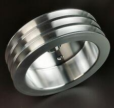 Sb Chevy Aluminum 3 Groove Crankshaft Pulley Sbc 350 Crank Swp Short Water Pump