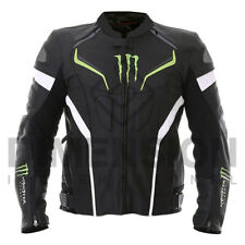 MONSTER Energy Scream Moto Motorcycle Rider Giacca in Pelle