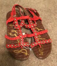SAM EDELMAN Studded red  Sandals Flats Shoes Size 7.5