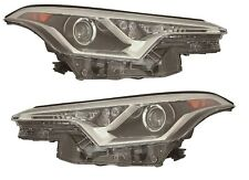 FITS TOYOTA C-HR CHR 2018-2019 RIGHT LEFT HEADLIGHTS HEAD LIGHTS LAMPS PAIR