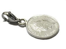 LUCKY SILVER PENNY CLIP ON CHARM (T)