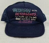 Vintage Snapback Mesh Trucker Hat Cap Funny Saying Bachelors