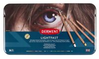 Derwent Lightfast Professional Artist Colour Pencil Set : 12 - 24 - 36 - 72 Tin