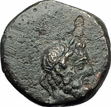 Myous in Ionia 200BC ASCLEPIUS SERPENT STAFF Rare Ancient Greek Coin i59531