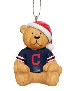 Cleveland Indians Christmas Tree Holiday Ornament New - Jersey Teddy Bear Santa
