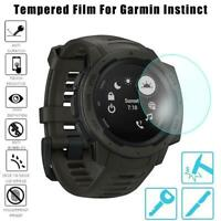 3D Tempered Glass Watch Screen Protector Cover For Garmin Instinct Alcohol Bag