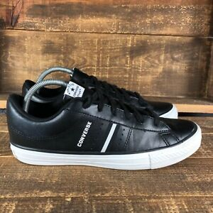 Converse Mens Chuck Taylor All Star Low 1707 Black Leather Skate Shoes Size 7.5