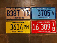Old american original car Number plate Sign vtg gas petrol oil license usa yank