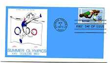 C97 31c High Jumper, Olympics 1980, Colonial, FDC