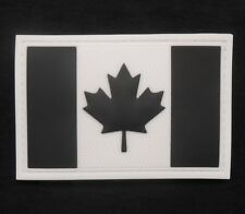 3D PVC CANADA FLAG RUBBER CANADIAN MORALE SWAT VELCRO® BRAND FASTENER PATCH