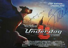 DISNEY UNDERDOG Signed 16x12 Print JASON LEE & JIM BELUSHI COA
