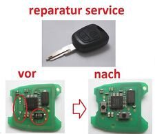 peugeot 206 306 307 406 REPARATUR SERVICE Fernbedienung Schlüssel Funkschlüssel