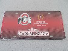 OHIO STATE BUCKEYES 2014 FOOTBALL NATIONAL CHAMPIONS METAL LICENSE PLATE