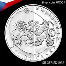 Czech Silver Coin PROOF (2017) -  Czech Astronomical Society - 200 CZK