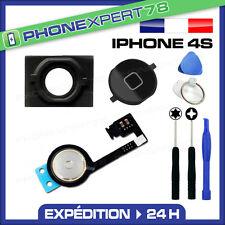 NAPPE + BOUTON HOME NOIR + MEMBRANE POUR IPHONE 4S + OUTILS