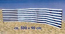 Paravent parevent pare-vent 500 x 90 cm abris vent accessoires plage camping