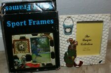 """3D Sport Photo Memory Golf Picture Frame 3.5"""" x 5"""" new in box table clubs ball"""