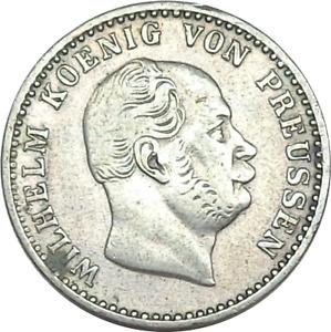 1871 C German States - Prussia 2 1/2 Silber Groschen, KM-486.