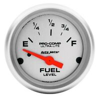 "Air-Core 73-10 Ohm Auto Meter 1605 2-1//16/"" Old Tyme White Fuel Level Gauge"