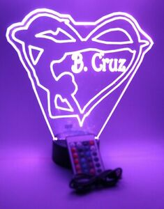 Gymnast In Heart Night Light Up Lamp LED Personalized Gymnastics Tumbler, Remote