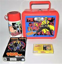 Dick Tracy Collectibles Lunchbox w/Thermos, VHS, Episode 1 Cassette Tape Big Boy