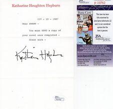 Katharine Hepburn Hand Signed Letter On Letterhead Great Content Jsa