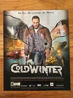 Cold Winter Playstation 2 PS2 Vintage Video Game Poster Ad Art Print