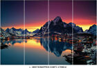 Mountain Snow Lake Nature Sunset Photo Wallpaper Wall Mural Home Bedroom Deco