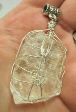 HUGE Brazilian Phenacite Phenikite Crystal Pendant #DD Sterling Silver