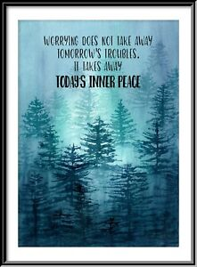 Misty Forest Motivational, Inspirational Print from an Original Painting