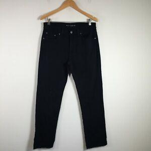 Mott & Bow Mens Denim Jeans Size 32 W32 inch Dark Indigo Blue Slim Leg Cotton